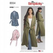 8554 Simplicity Pattern: Misses'/Miss Petite Coat or Unlined Jacket